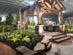 Boyas Sandstone Boulders were used by Sasak Landscaping for their display at the 2020 Home and Garden Show